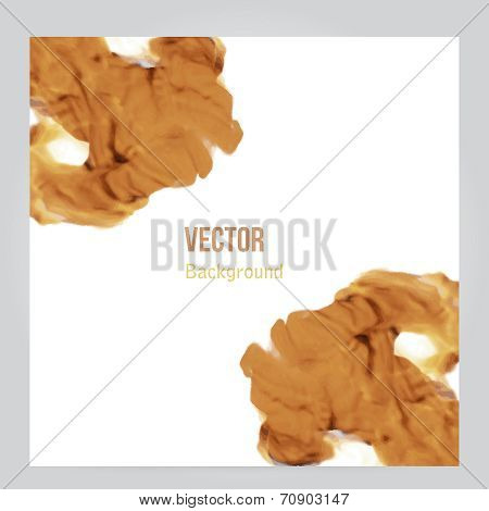 Vector fire. Floral Background with Smoke