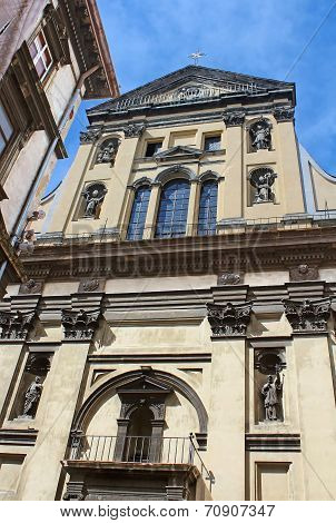 Jesuit Church Of St. Peter And St. Paul In Lviv, Ukraine. Unesco World Heritage