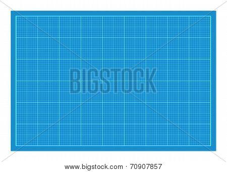 Sheet of blueprint paper.