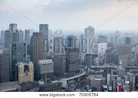 Osaka City Skyline From The Umeda Sky Building