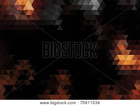 Abstract vector background made of triangles.