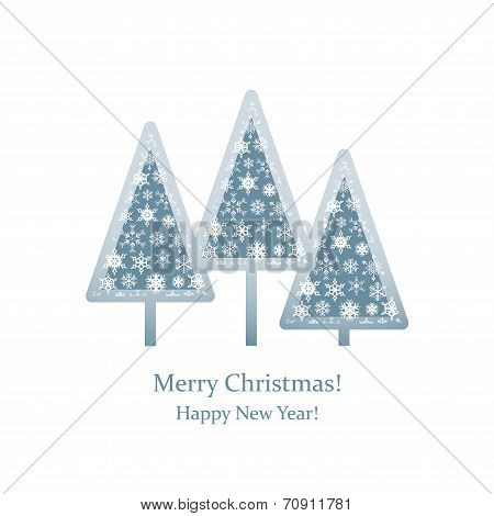 Christmas Tree snowflakes-arrow-greeting