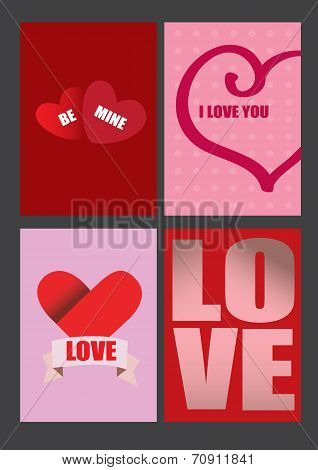 Vector Designs For Valentines Day Greeting Cards And Posters