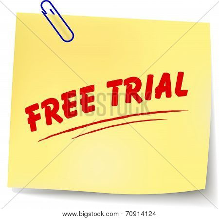 Free Trial Message