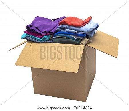 Clothes Folded In Box Isolated On White