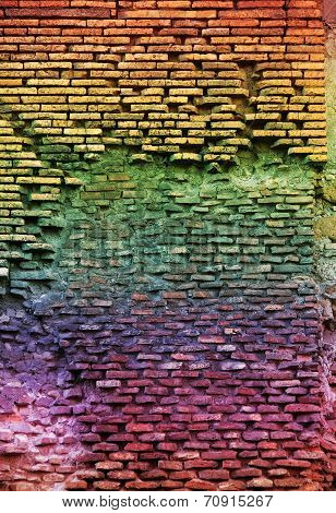 Red Brick Wall Texture Grunge Background