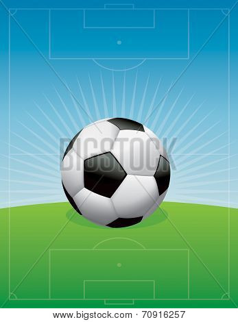 Soccer Football Field Background Illustration