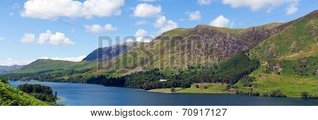 Panorama Buttermere English Lake District Cumbria England uk surrounded by fells