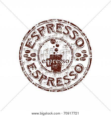 Espresso grunge rubber stamp
