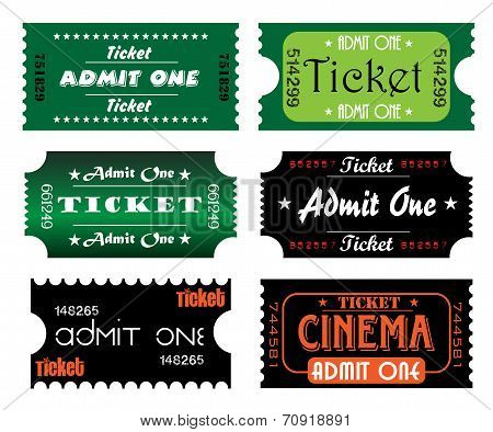 Set of six tickets