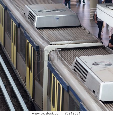 Light Rail Train In Kuala Lumpur