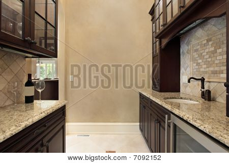 Pantry With Refrigerator