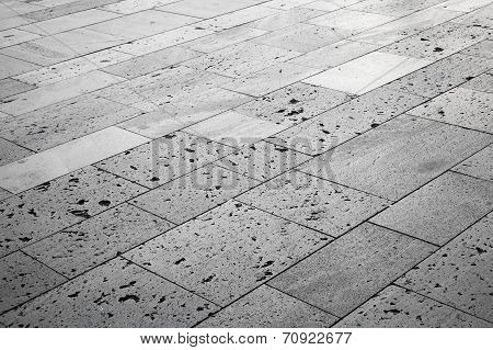 Gray Stones, Urban Road Tiling. Background Photo Texture