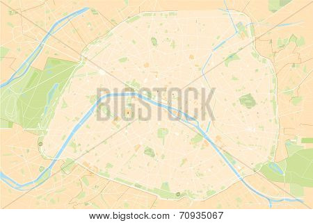 Vecor Illustration of Paris map france