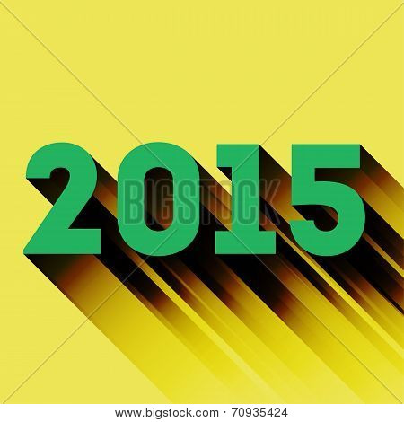 2015 year sign with long shadow