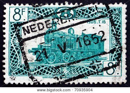 Postage Stamp Belgium 1949 Locomotive Type T16, 1906
