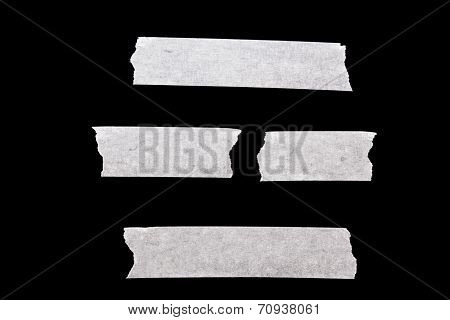 Masking Tape Isolated On Black Background