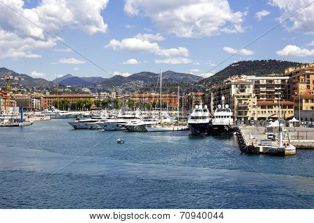 Port Lympia In Nice, France
