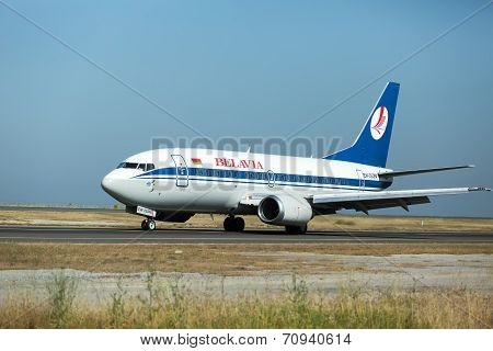 Belavia Canadair Crj-100Er Aircraft Preparing For Take-off From The Runway Ofinternational Airport '