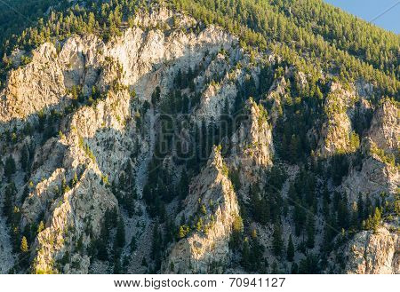 Chalk Cliffs Of Mt Princeton Colorado
