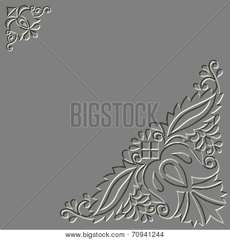 Metal Relief Moravian Folk Ornament