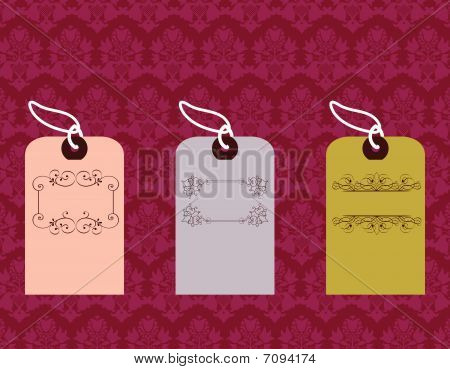 Tags With Pattern Background
