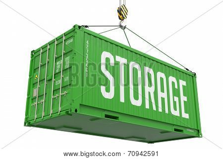 Storage - Green Hanging Cargo Container.