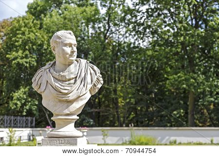 Bust Of Vitellius In Lazienki, Warsaw, Poland