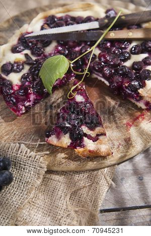 Focaccia With Red Grape Strawberry