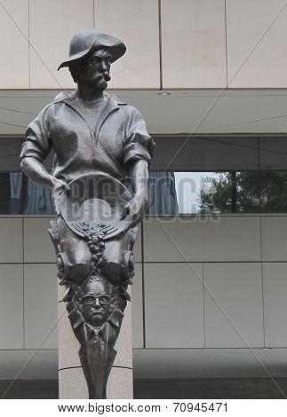 Gold Miner statue