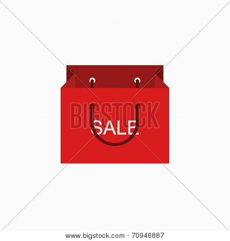 vector modern shopping sale icon on white