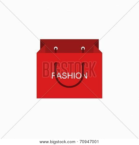 vector modern shopping fashion icon on white