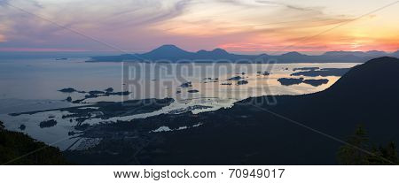 Sitka Sunset From Mount Verstovia