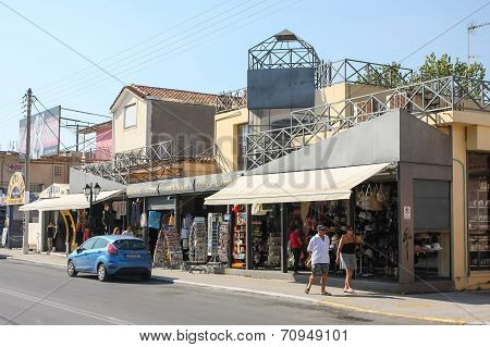 Street In Laganas On Zakynthos Island