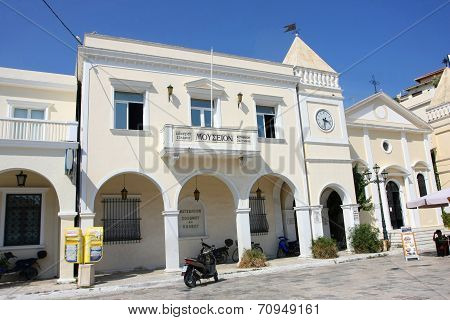 Museum Solomos And Kalvos On St. Markos Square In Zakynthos