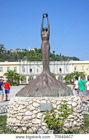 Statue Of Greece Ionian Islands Zante