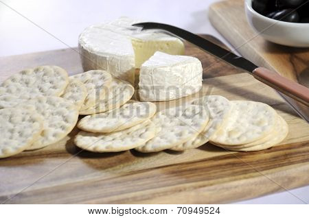 Close Of Up Of Cheese Platter