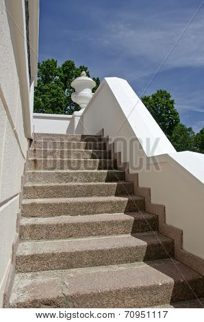 Old Staircase In Historical Manor House