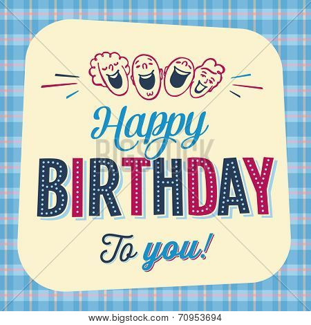 Vintage Birthday Card - Happy Birthday to you - JPG Version