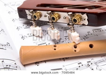 Guitar and wooden flute