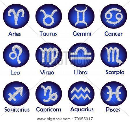 Horoscope icons set
