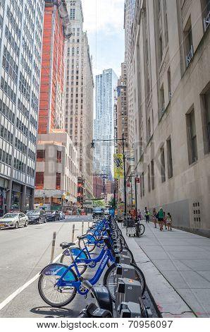 Manhattan bike station