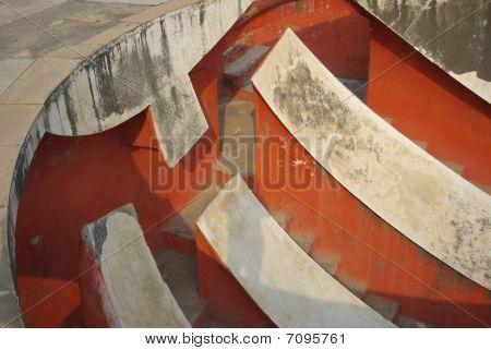 Jantar Mantar Delhi observatory curves