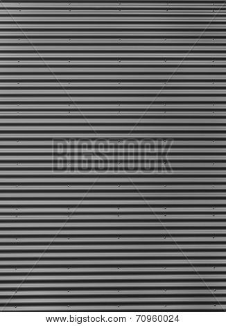 Silver gray corrugated iron