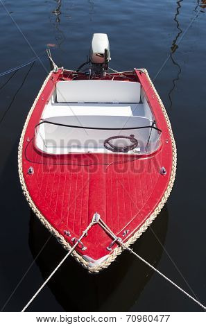 Red Motorboat