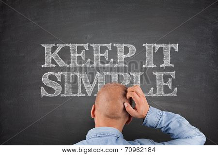 Keep It Simple Concept On Blackboard