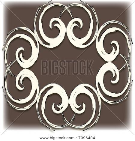 Decoupage Paper Cut Background