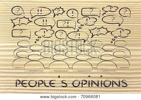 People Expressing Their Feelings Or Discussing A Popular Topic
