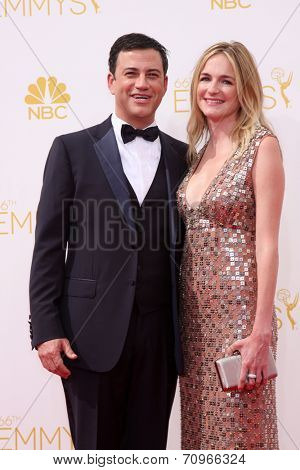 LOS ANGELES - AUG 25:  Jimmy Kimmel at the 2014 Primetime Emmy Awards - Arrivals at Nokia at LA Live on August 25, 2014 in Los Angeles, CA