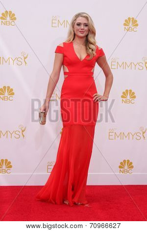 LOS ANGELES - AUG 25:  Brooke Newton at the 2014 Primetime Emmy Awards - Arrivals at Nokia at LA Live on August 25, 2014 in Los Angeles, CA